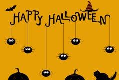 Plantilla del cartel de Halloween Ilustración del vector fotos de archivo libres de regalías