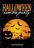 Plantilla del cartel de la invitación de Halloween Fotos de archivo