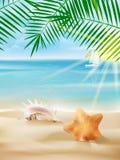 Plantilla del cartel de las vacaciones de verano. Fotografía de archivo