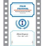 Plantilla del cartel del festival de cine Foto de archivo libre de regalías