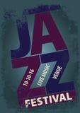 Plantilla del cartel del festival de jazz Imagenes de archivo