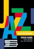 Plantilla del cartel del festival de jazz Imagen de archivo