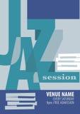 Plantilla del cartel del festival de jazz Imagen de archivo libre de regalías