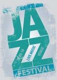 Plantilla del cartel del festival de jazz Fotografía de archivo