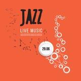 Plantilla del cartel del festival de jazz Jazz Music saxophone Día internacional del jazz Elemento del diseño del vector Foto de archivo
