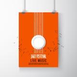Plantilla del cartel del festival de jazz Jazz Music saxophone Día internacional del jazz Elemento del diseño del vector Imagen de archivo
