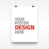 Plantilla del cartel del vector de una hoja de papel Foto de archivo libre de regalías