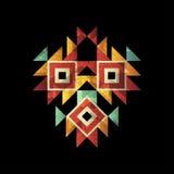 Plantilla del cartel del vector Vector tribal, logotipo étnico Aviador, diseño gráfico de la bandera ilustración del vector