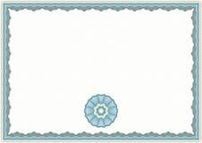 Plantilla del certificado del guilloquis Foto de archivo libre de regalías