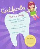 Plantilla del certificado del recibo del ratoncito Pérez Stock de ilustración