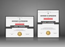 Plantilla del certificado del vector