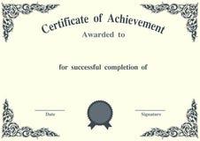 Plantilla del certificado del vector Foto de archivo