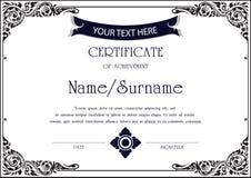 Plantilla del certificado del vector Fotos de archivo libres de regalías