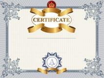 Plantilla del certificado o de la cupón Imagen de archivo libre de regalías
