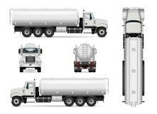 Plantilla del coche del petrolero stock de ilustración