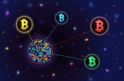 Plantilla del concepto de Blockchain stock de ilustración
