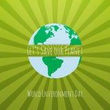 Plantilla del concepto de la conciencia del día del ambiente mundial Imagenes de archivo