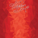 Plantilla del contexto de las tarjetas del día de San Valentín Fotografía de archivo