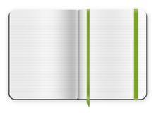Plantilla del cuaderno Foto de archivo libre de regalías