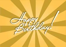 Plantilla del cumpleaños Imagenes de archivo