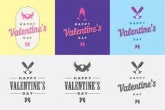 Plantilla del día de tarjeta del día de San Valentín Imagen de archivo
