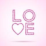 Plantilla del día de tarjetas del día de San Valentín Imagenes de archivo