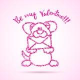 Plantilla del día de tarjetas del día de San Valentín Foto de archivo