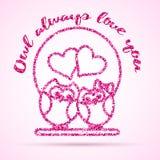 Plantilla del día de tarjetas del día de San Valentín Fotografía de archivo libre de regalías