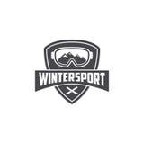 Plantilla del deporte de invierno Imágenes de archivo libres de regalías