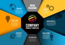 Plantilla del diagrama de Infographic del perfil de Vector Company Fotos de archivo libres de regalías