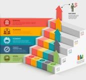 plantilla del diagrama de la escalera del negocio 3d Fotos de archivo libres de regalías