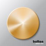 Plantilla del disco o del botón de oro Imágenes de archivo libres de regalías