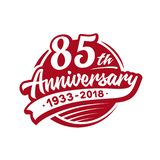 plantilla del diseño del aniversario 85years Vector y ejemplo 85o logotipo libre illustration