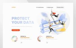 Plantilla del diseño del ataque del phishing de la contraseña libre illustration
