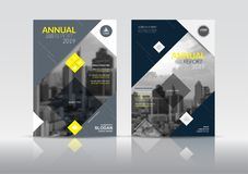Plantilla del diseño del aviador del folleto de la cubierta del informe anual fotografía de archivo