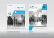 Plantilla del diseño del aviador del folleto de la cubierta del informe anual fotos de archivo