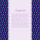 Plantilla del diseño con los tulipanes púrpuras Imagenes de archivo