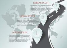 Plantilla del diseño: Cronología del negocio del mapa de camino Fotografía de archivo