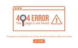 plantilla del diseño de 404 errores la página 404 no es estilo linear encontrado del concepto La página es error perdido del dise Imagen de archivo libre de regalías