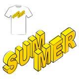 Plantilla del diseño de gráficos de la camiseta del cartel del verano Imagenes de archivo