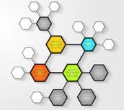 Plantilla del diseño de Infographic Fotografía de archivo