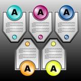 Plantilla del diseño de Infographic Foto de archivo libre de regalías