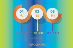 Plantilla del diseño de Infographic Fotos de archivo libres de regalías