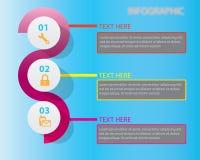 Plantilla del diseño de Infographic Imagen de archivo libre de regalías
