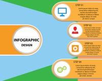 Plantilla del diseño de Infographic Fotografía de archivo libre de regalías