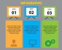 Plantilla del diseño de Infographic Imágenes de archivo libres de regalías