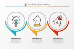 Plantilla del diseño de Infographic Carta de organización con 3 pasos ilustración del vector