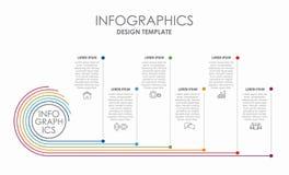 Plantilla del diseño de Infographic con el lugar para sus datos Ilustración del vector libre illustration