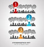 Plantilla del diseño de Infographic con estilo plano moderno Imagenes de archivo