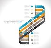 Plantilla del diseño de Infographic con las etiquetas de papel.